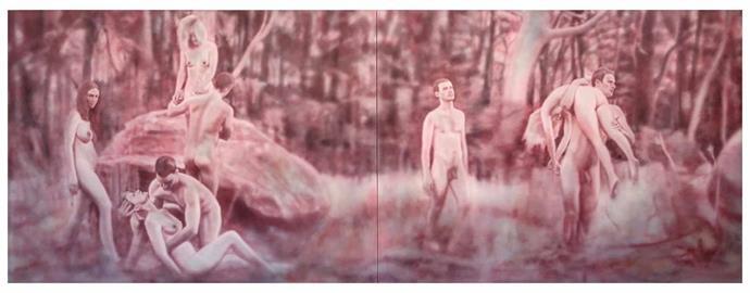 *The Ties That Bind*, 2018, acrylic on canvas, Fiona Lowry.