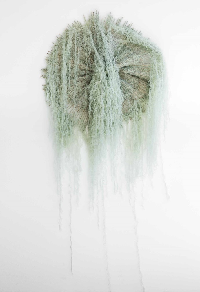 *Jellyfish*, bamboo and alpaca fibre, Tracey Deep.