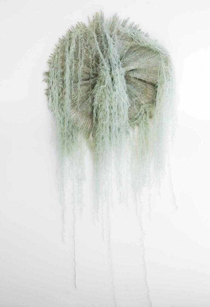 *Jellyfish*, bamboo and alpaca fibre, Tracey Deep.