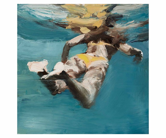 Yellow Bikini, 2018, oil on linen, Martine Emdur. *Image courtesy of Nanda\Hobbs*.