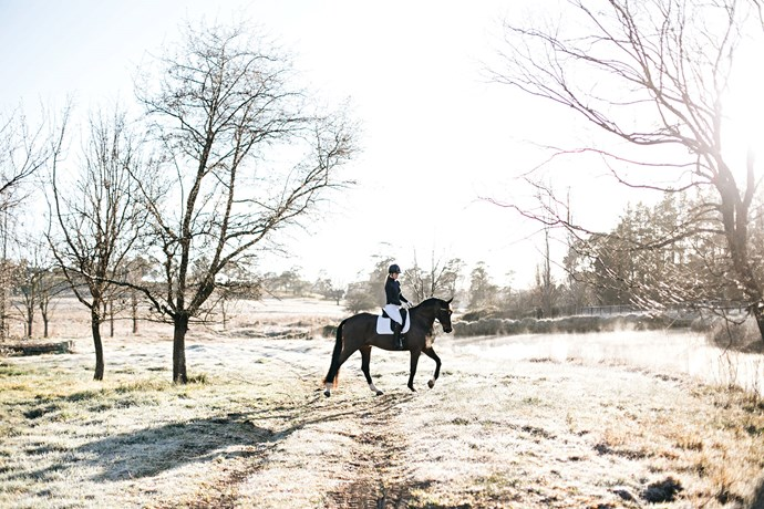 """Izzy and Doug on an early morning ride at [Sutton Farm Equestrian Centre](https://suttonfarm.com.au/