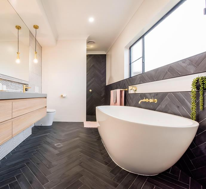 Timber-look tiles come in every colourway you could dream of - from light blonde to ash. Tiles, Beaumont. *Photo:* Leeza Egan