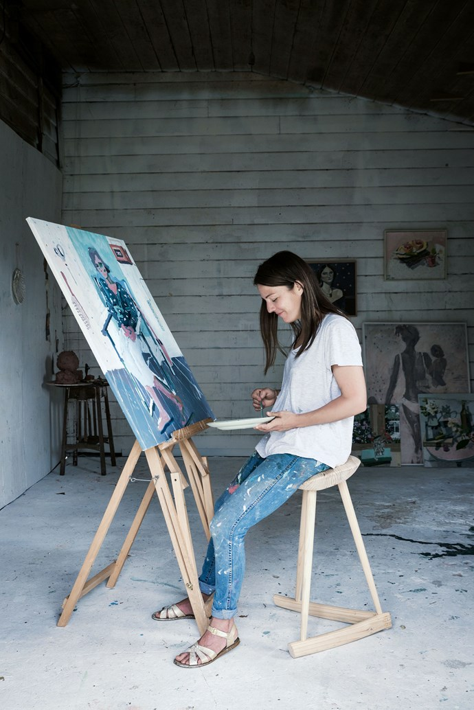 """In her barn studio, Archibald Prize finalist [Zoe Young](http://www.zoeyoung.com.au/