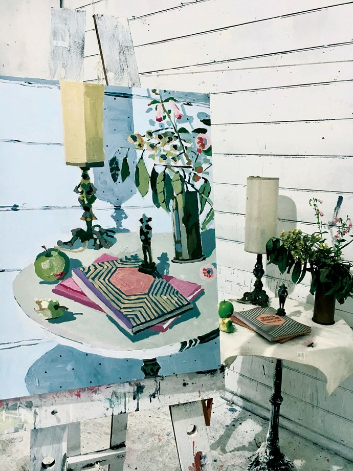 Ganesha in Summer Studio is one of Zoe's recent works. Much of her present work is a nostalgia trip, harking back to the timber house located on another property opposite the studio, where Zoe spent part of her childhood.