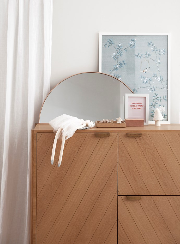"Add age-appropriate accessories like prints and a mirror as needed. Hartô ""Marius"" dresser in Natural Oak, $3680, [Clickon Furniture](https://www.clickonfurniture.com.au/