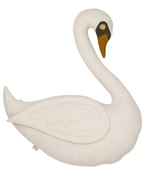 "Numero74 'Vicky' Swan Cushion in Natural, $145, [Talo Interiors](https://talointeriors.com.au/?s=swan+cushion&post_type=product&type_aws=true|target=""_blank""