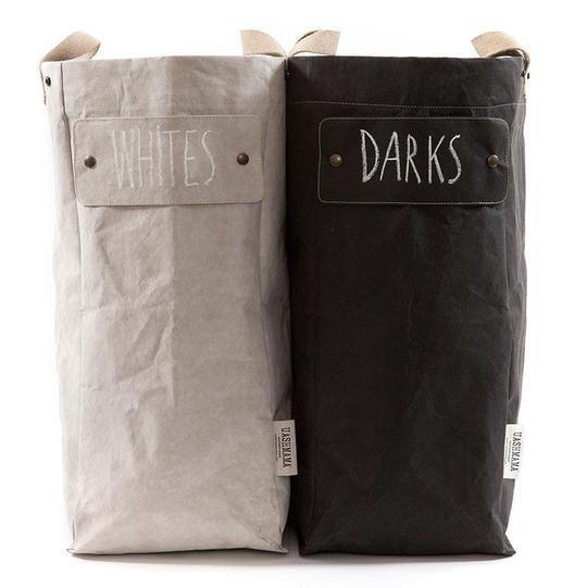 "Paper laundry bag, $89 (each), from [Uashmama](https://www.uashmama.com.au/collections/laundry/products/paper-laundry-bag|target=""_blank""