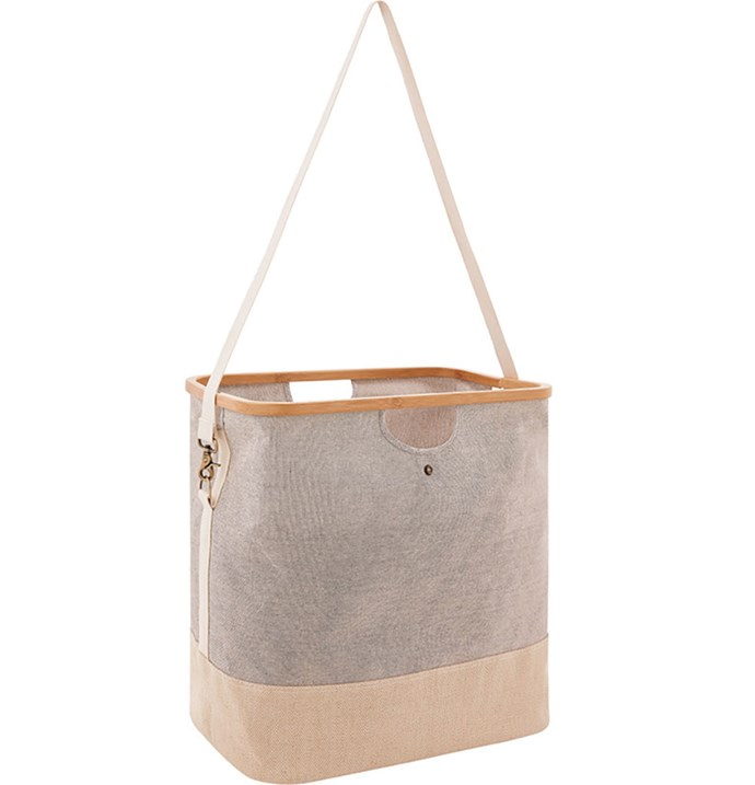 """'Sardina' collapsible clothes hamper, $52.46, from [Sheridan](https://fave.co/2OWTo4o