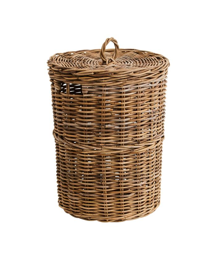 "'Kubu' laundry basket, $103.96, from [Provincial Home Living](https://www.provincialhomeliving.com.au/kubu-laundry-basket|target=""_blank""