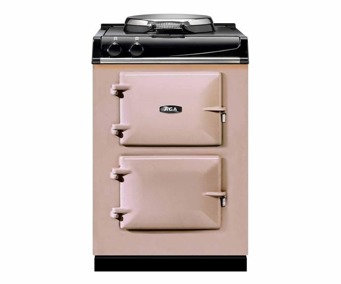 "60 dual fuel cooker in Blush, $11,500, [AGA](https://agaaustralia.com.au/|target=""_blank""|rel=""nofollow"")."