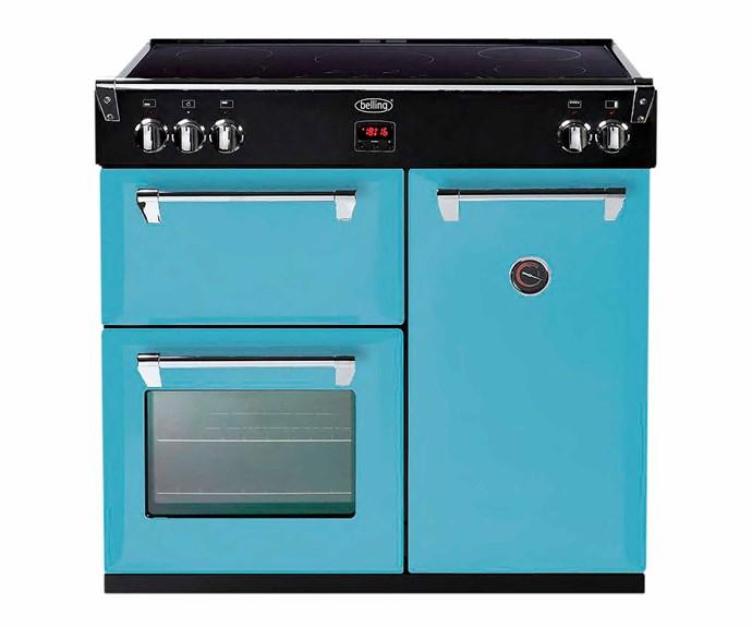 "Belling 900mm Richmond Colour Boutique dual fuel freestanding oven in Days Break, $5999, [Harvey Norman](https://www.harveynorman.com.au/|target=""_blank""|rel=""nofollow"")."