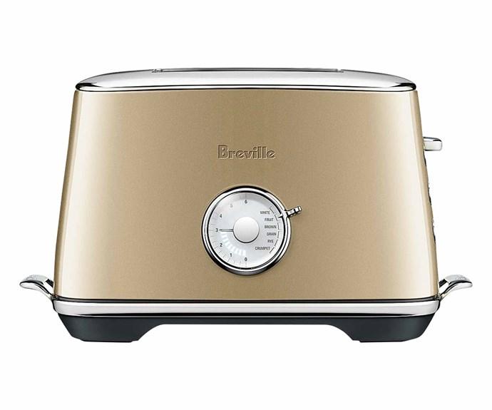 "Breville 'The Toast Select' luxe toaster in Bronze, $199, [Appliances Online](https://www.appliancesonline.com.au/|target=""_blank""|rel=""nofollow"")."