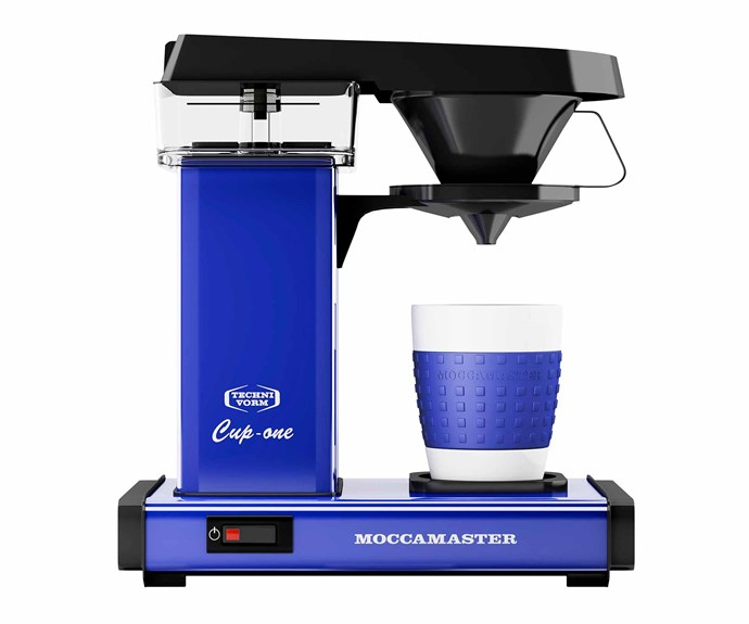 """Moccamaster automatic pour-over coffee maker in Royal Blue, $385, [Alternative Brewing](https://alternativebrewing.com.au/