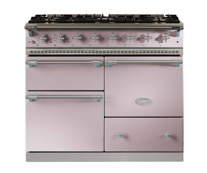 """Lacanche 'Sully 2.2' cooker in Pink Quartz, POA, [Manorhouse](https://www.manor.com.au/