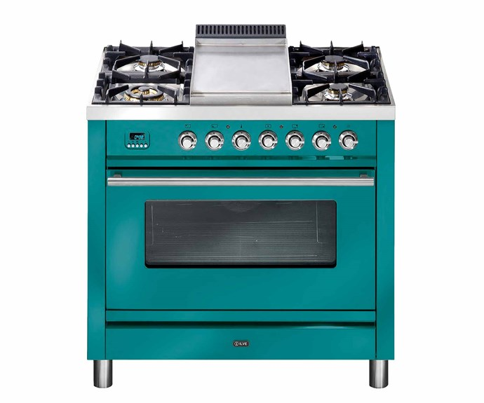 "Quadra series cooker in Turquoise, POA, [Ilve](https://www.ilve.com.au/|target=""_blank""|rel=""nofollow"")."