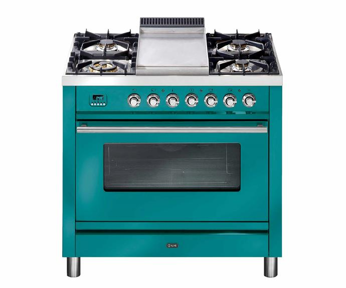 "Quadra series cooker in Turquoise, POA, [Ilve](https://www.ilve.com.au/|target=""_blank""