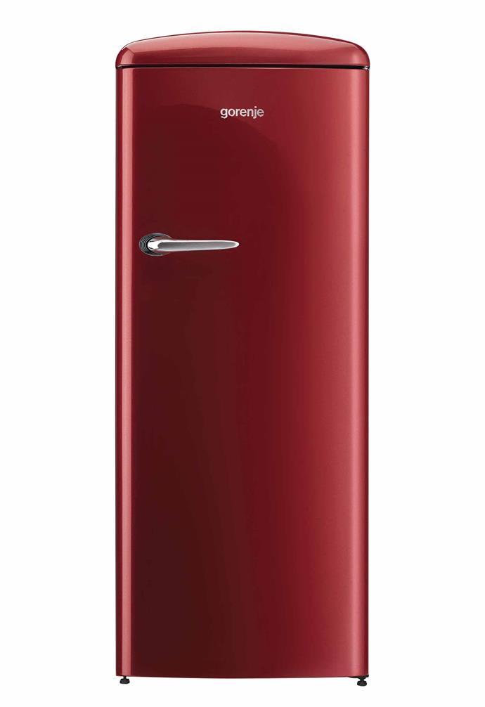 "Gorenje 260L retro-style top-mount fridge in Burgundy, $1499, [Appliances Online](https://www.appliancesonline.com.au/|target=""_blank""|rel=""nofollow"")."