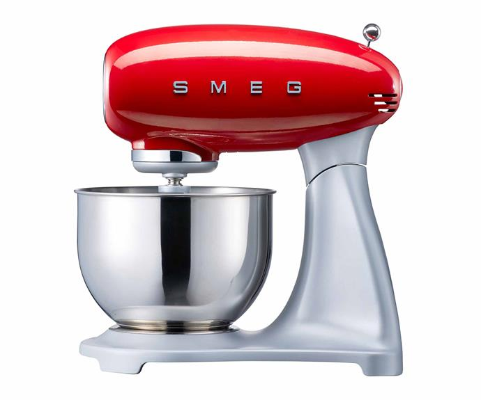 "Retro stand mixer in Red, $799, [Smeg](https://www.smeg.com.au/|target=""_blank""|rel=""nofollow"")."