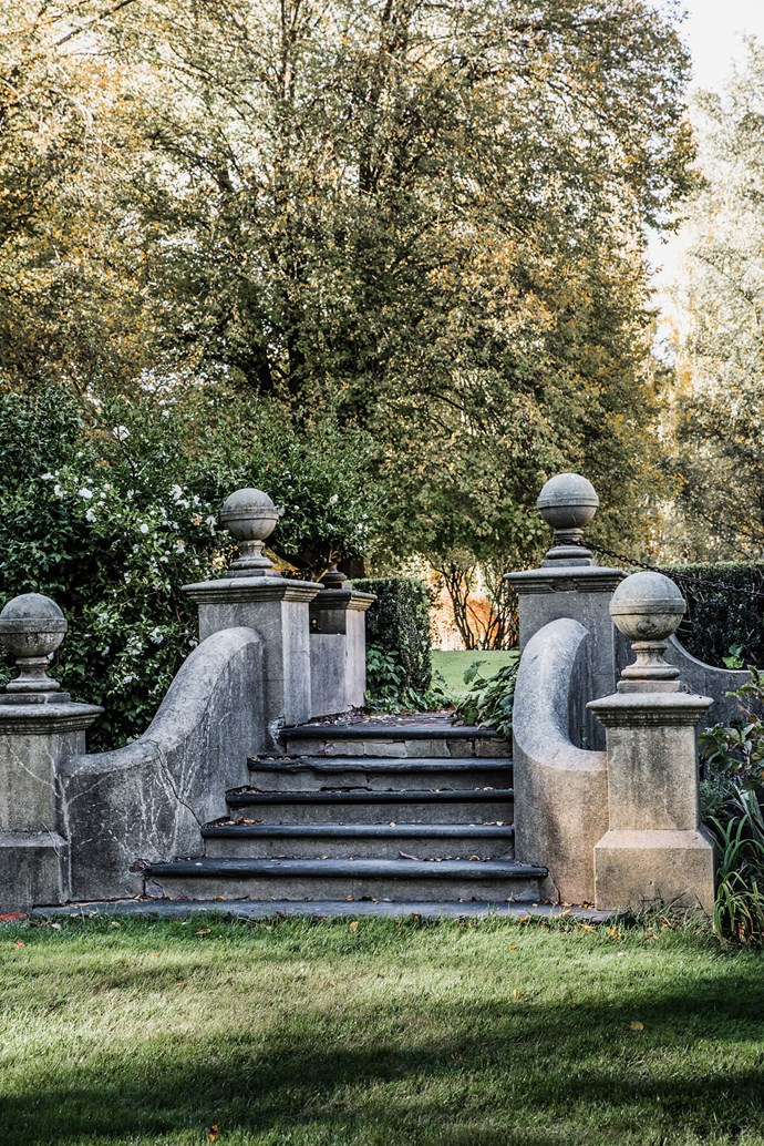 The stone steps are just one of many historic features to be found in the garden.