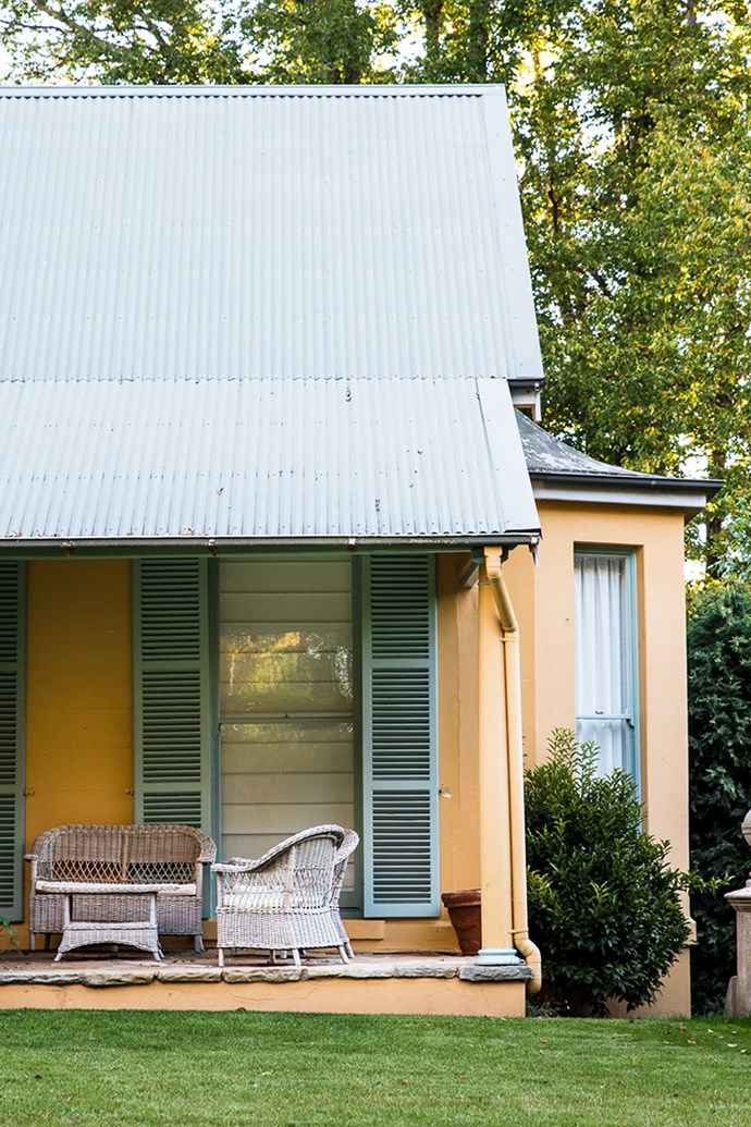 The verandah of the restored homestead.