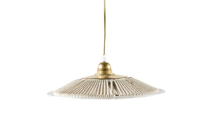 "Parasol Rope pendant, $180, [Tigmi Trading](https://tigmitrading.com/collections/furniture-lighting-lighting/products/parasol-pendant?variant=36304662083|target=""_blank""|rel=""nofollow"")."