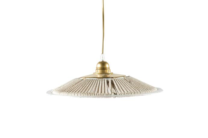 "Parasol Rope pendant, $180, [Tigmi Trading](https://tigmitrading.com/collections/furniture-lighting-lighting/products/parasol-pendant?variant=36304662083|target=""_blank""