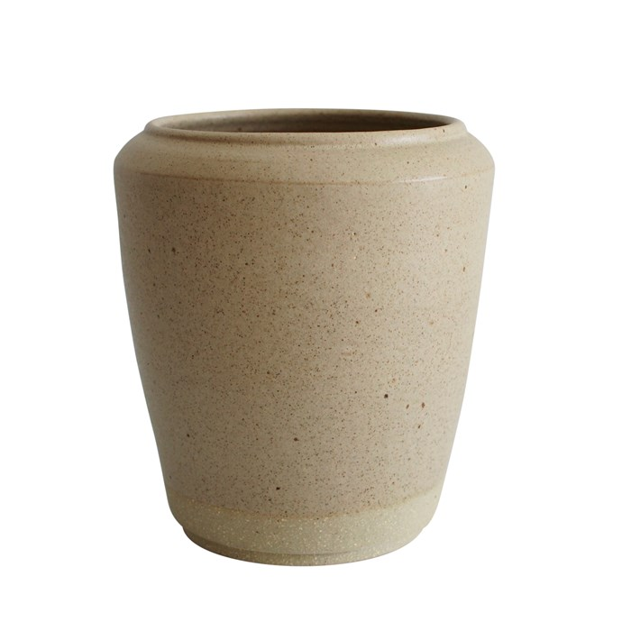 """Stoneware vase, $130, [Wingnut & Co.](https://wingnutand.co/collections/for-flowers-arranging