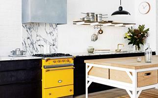 Yellow stove