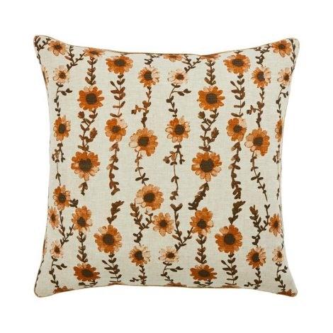 "Sunflower Seagrass cushion, $165, [Bonnie and Neil](https://www.bonnieandneil.com.au/product/sunflower-seagrass-50cm/|target=""_blank""|rel=""nofollow"")."