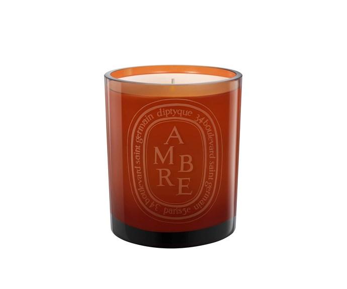 "Orange Ambre candle, $119, [Mecca](https://www.mecca.com.au/diptyque/orange-ambre-candle/I-019401.html?cgpath=fragrance-home-candles#prefn1=brand&prefv1=Diptyque&start=1|target=""_blank""|rel=""nofollow"")."