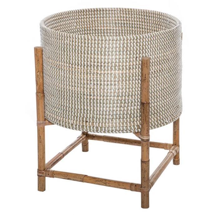 "Adoko Planter Pot on stand in Natural, $199.95, [Oz Design Furniture](https://ozdesignfurniture.com.au/adoko-planter-pot-on-stand-in-natural|target=""_blank""|rel=""nofollow"")."