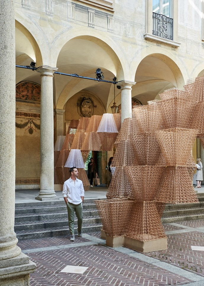 *Belle* style director-at-large Steve Cordony surveys the extraordinary bioplastic Cos installation by Arthur Mamou-Mani.