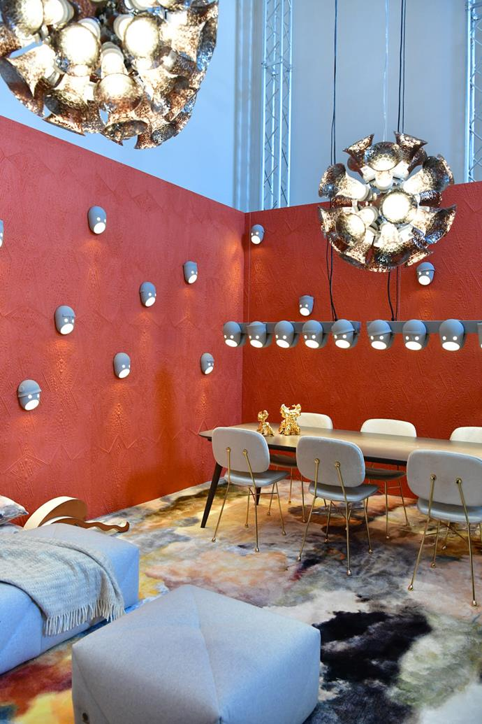 Wall lights at Moooi with a nod to a Mexican wrestler's mask.