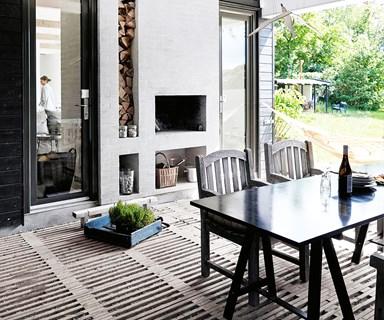 A holiday home showcasing Scandinavian coastal style