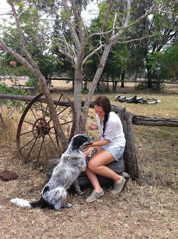 Deb Graving's daughter Tessa with Boof.
