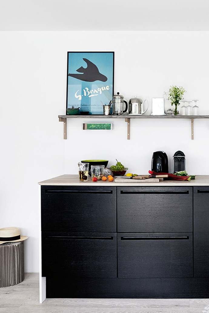 "The [galley kitchen](https://www.homestolove.com.au/popular-kitchen-layouts-and-designs-2336|target=""_blank"") is finished in stained oak. Hélène writes cook books, as well as working as a journalist and children's author."