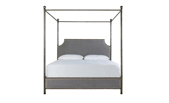 "Lefort metal queen canopy bed, $2375, at [Max Sparrow](https://www.maxsparrow.com.au/collections/new-in-beds/products/lefort-american-king-canopy-bed|target=""_blank""