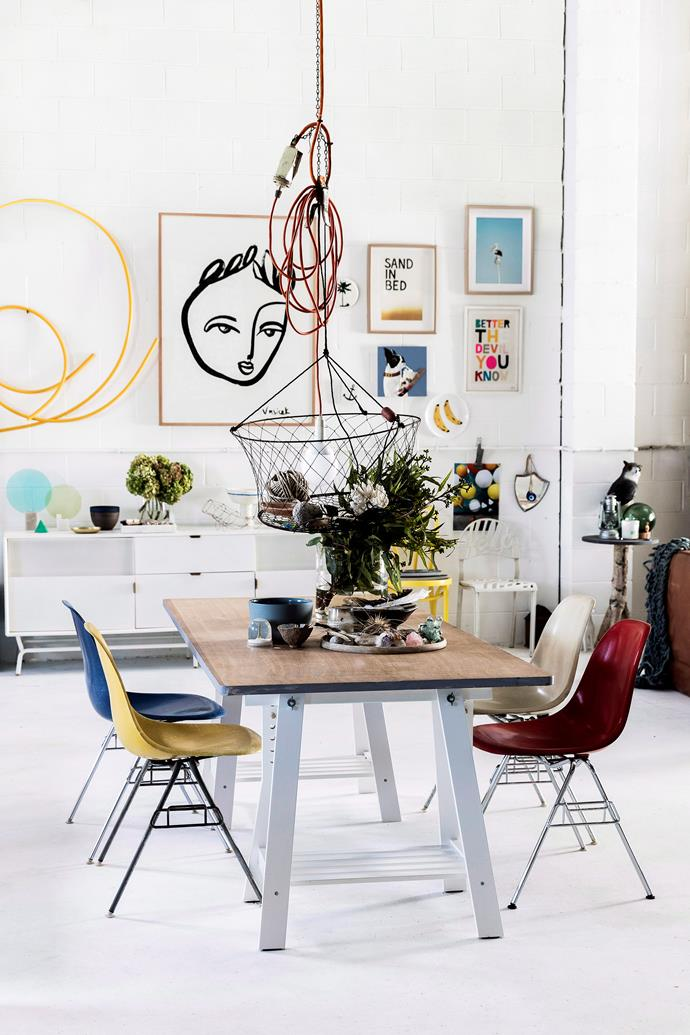 """Create a unique and eye-catching display with an [art gallery wall](https://www.homestolove.com.au/how-to-create-an-art-gallery-wall-4860