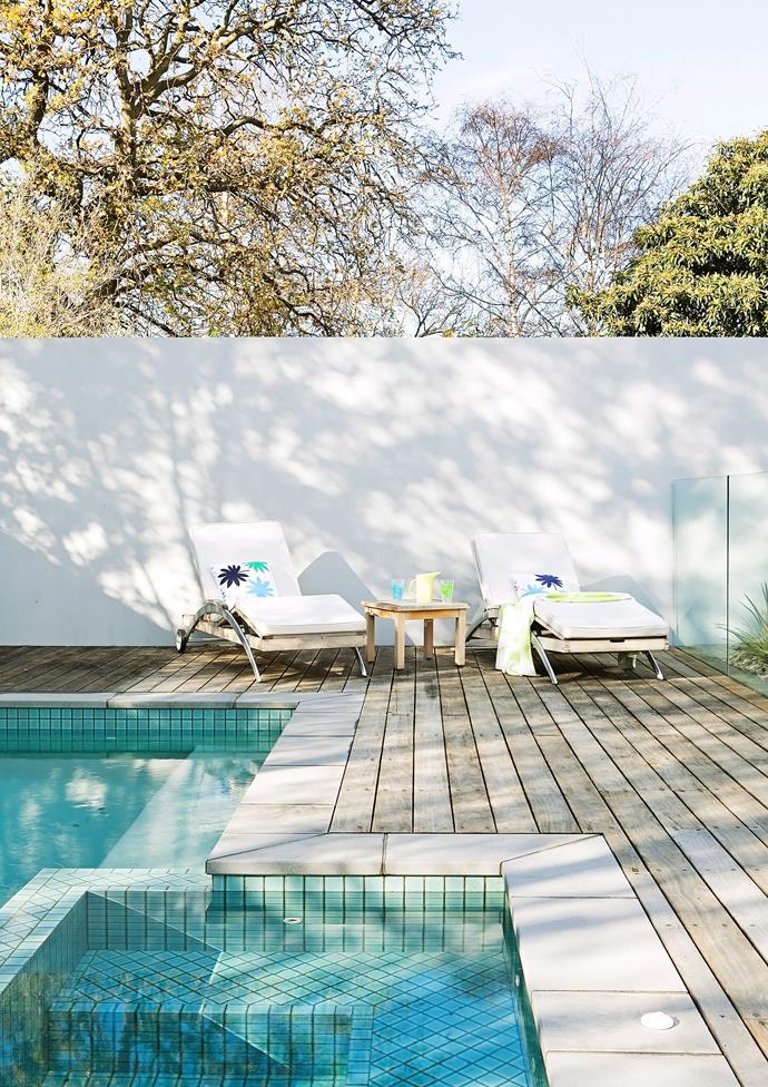 Exposed decking around a swimming pool requires extra attention. *Photo:* Tim James