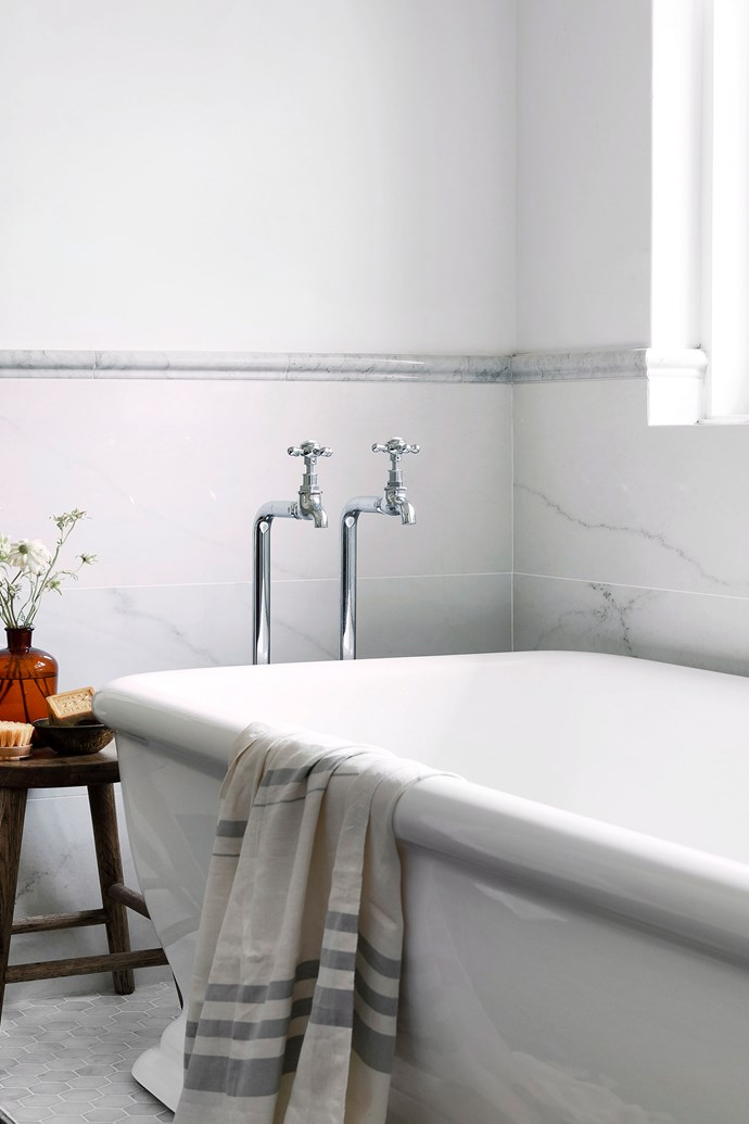 Vinegar is a great all-rounder in the bathroom. Not only will it dissolve soap scum and kill bacteria, it will also work to shine up chrome fixtures and fittings. *Photo: Jody D'Arcy / bauersyndication.com.au*