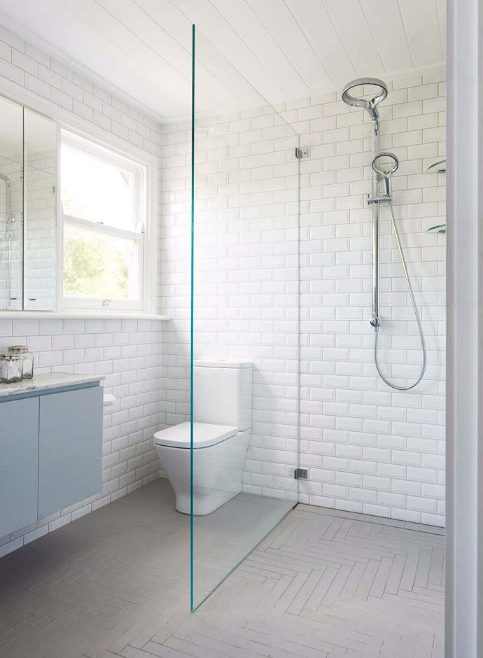It's always important to finish a bathroom clean by drying it thoroughly. Open a window, turn on the exhaust fan and wipe off as much excess moisture as possible. *Photo: James Deck / bauersyndication.com.au*