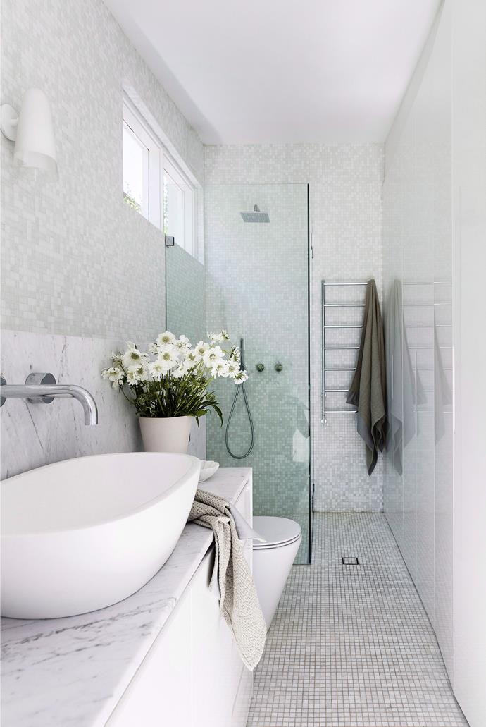 Mosaic tiles never fail to make an impact, but can be extremely hard to clean. With lots of little grout lines to deal with, investing in a mechanical scrubber will change your life. *Photo: Maree Homer / bauersyndication.com.au*