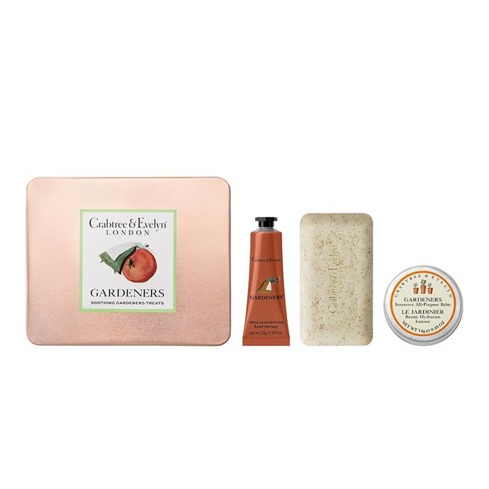 "Gardeners Soothing Treats **gift pack**, $40, from [Crabtree & Evelyn](https://fave.co/2FoYoKZ|target=""_blank""
