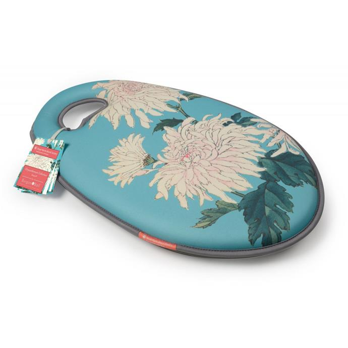 "Burgon & Ball Chrysanthemum 'Kneelo' **cushion kneeler**, $52, from [Everten](https://fave.co/2vdOUh7|target=""_blank""
