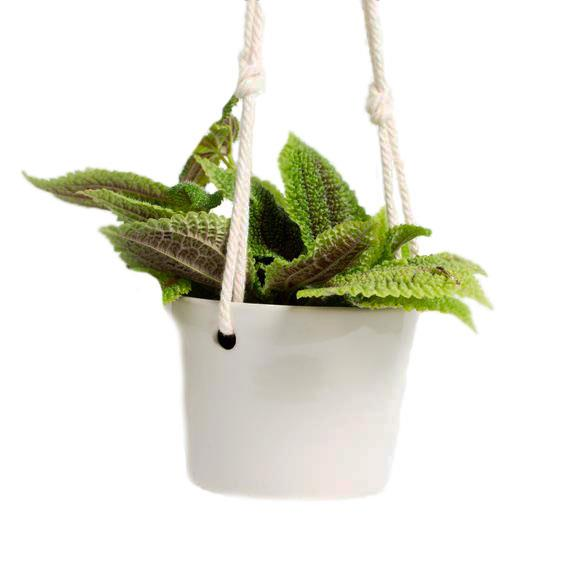 """'Cottonwood' **hanging planter**, $44, from [MudLove](https://www.mudlove.com/collections/heartland-planters/products/hanging-planter-cottonwood
