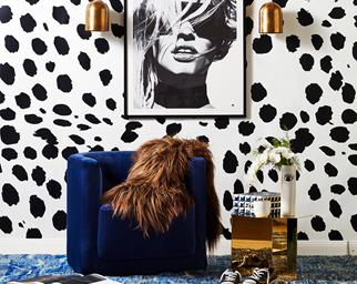 Animal print dining room