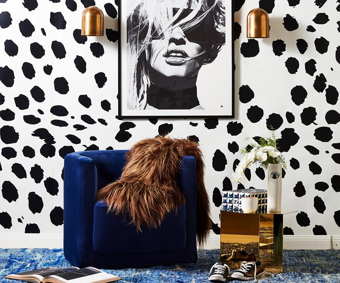 Animal print dining room
