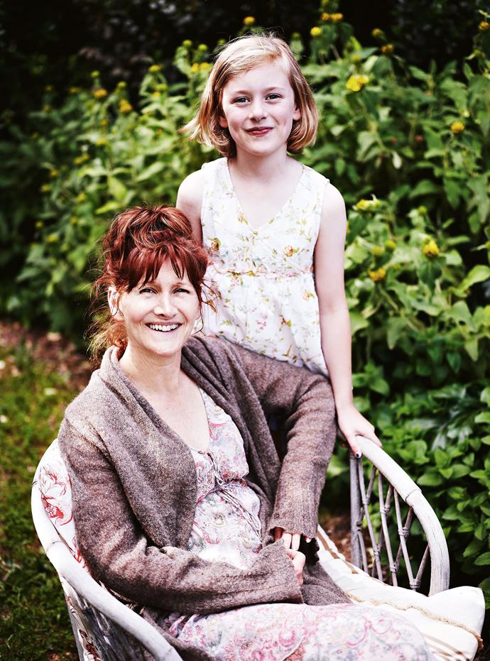 Suzi and eight-year-old Saffron.