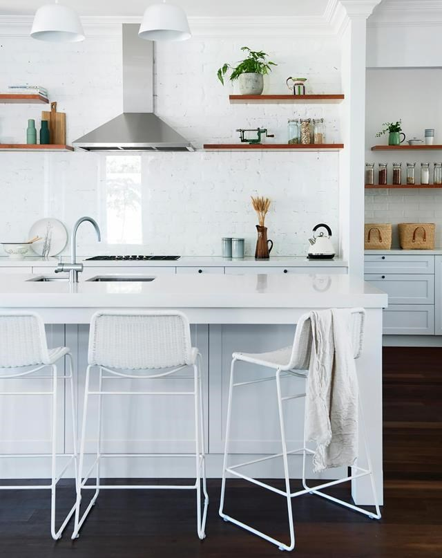 A black and white palette creates a fresh yet elegant feel in the kitchen of this [renovated Edwardian home](http://www.homestolove.com.au/gallery-edwardian-restoration-for-a-family-home-2447). *Photograph*: Jody D'Arcy *Styling*: Lisa Quinn-Schofield