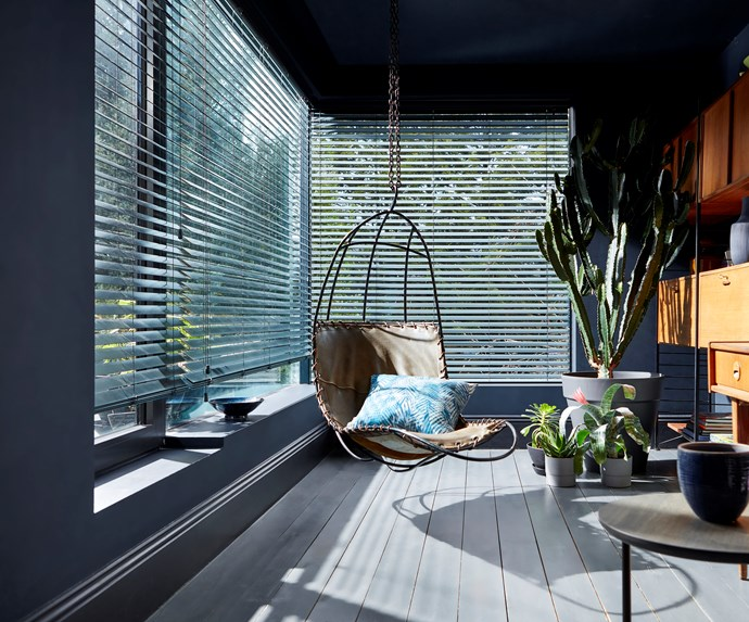 """Made-to-measure timber blinds are a striking addition to this contemporary sunroom, helping to control the flow of natural light in the space. *Image: [Blinds Online](https://www.blindsonline.com.au/?utm_source=homestolove&utm_medium=promoted&utm_campaign=homestolove-update-interiors-for-winter target=""""_blank"""")*"""